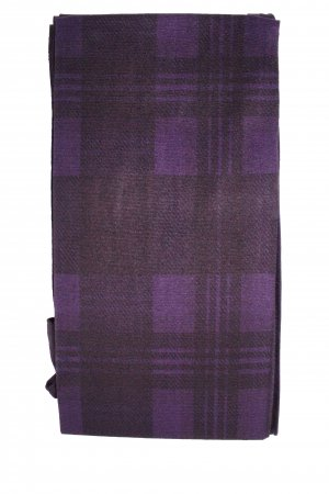 Purple Tartan Check Color Printed Patterned Tights Stockings
