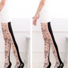 Black & White Two Tone Floral Slimming Tights Christmas Stockings Lingerie Pantyhose Fashion Hosiery