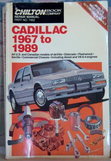 Chilton Repair Manual Cadillac 1967 to 1989