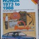 Chilton Repair Manual Honda 1973 to 1988 book #2