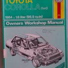 Haynes Toyota Corolla (fwd) 1984 Owners Workshop Manual