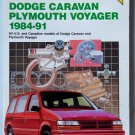 Chilton's Dodge Caravan & Plymouth Voyager 1984-1991