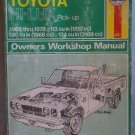 Haynes Toyota Hi-Lux Pick-up Truck Owner's Workshop  Manual