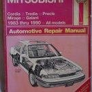Haynes Mitsubishi Automotive Repair Manual 1983 thru 1990