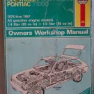 Haynes Chevrolet Chevette & Pontiac T1000 1976 thru 1987 Owners Workshop Manual