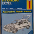 Haynes Hyundai Excel 1986 thru 1989 Automotive Repair Manual