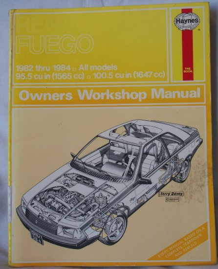 1982 Renault Fuego Turbo. HaynesRenault Fuego Owners