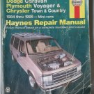 Haynes Dodge Caravan Plymouth Voyager & Chrysler Town & Country 1984-1995 Repair Manual