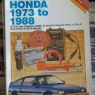Chilton's Repair Manual Honda 1973 to 1988 book #1