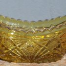 Early American Prescut Anchor Hocking Glass Amber colored