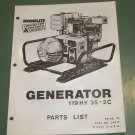 Homelite Generators, Parts List, Part No. 24917, Models 119HY35-2C Illustrated