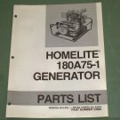 Homelite Generators, Parts List, Part No. 24959, Model 180A75-1 Illustrated