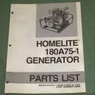 Homelite Generators, Parts List, Part No. 24959, Model 180A75-1 Illustrated