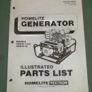 Homelite Generators, Parts List, Part No. 24959-A, Models 180A75-1 & 180A75-1A