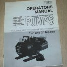 "Homelite Operators Manual 4 cycle engine driven pumps 1 1/2"" & 2"" models"