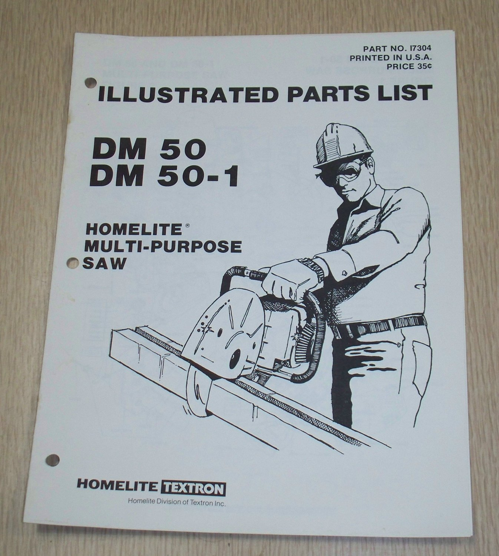 Homelite Multi-Purpose Saw Model DM50 & DM50-1, Part No