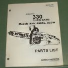 Homelite 330 Chain Saw Models 330, 330SL, 330W, Part 17505