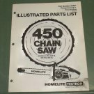 Homelite 450 Chain Saw Models 450, W, HG, SL Parts List 1st Ed. Part No. 24897