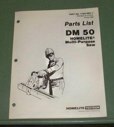 Homelite Parts List Multi-Purpose Saw Part No. 17304 Rev.1