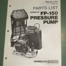 Homelite Parts List, FP-150 Pressure Pump, Part No. 17413 Illustrated