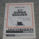 "Homelite Jacobsen Parts List 21"" Super Bagger Models part no. JA-99018-4"