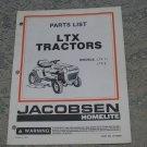 Homelite Jacobsen Parts List LTX Tractors Models LTX 11 LTX 8 part no. JA99322