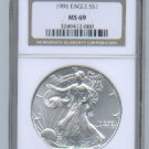1996 American Silver Eagle NGC MS69 Brown/Gold Label Wholesale Priced