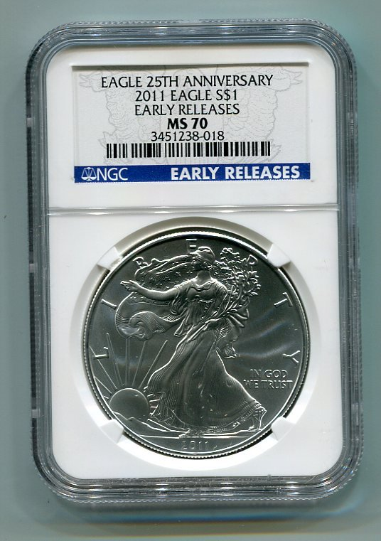 2011 American Silver Eagle NGC MS70 Early Release Wholesale Priced