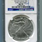 2012(S) American Silver Eagle NGC MS70 San Francisco Mint Label Early Release Wholesale Priced