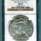 2013(S) Silver Eagle NGC MS 69 Brown/Gold Struck at San Francisco Mint Label Wholesale Priced