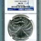 2015 American Silver Eagle NGC MS 70 Early Release Wholesale Priced