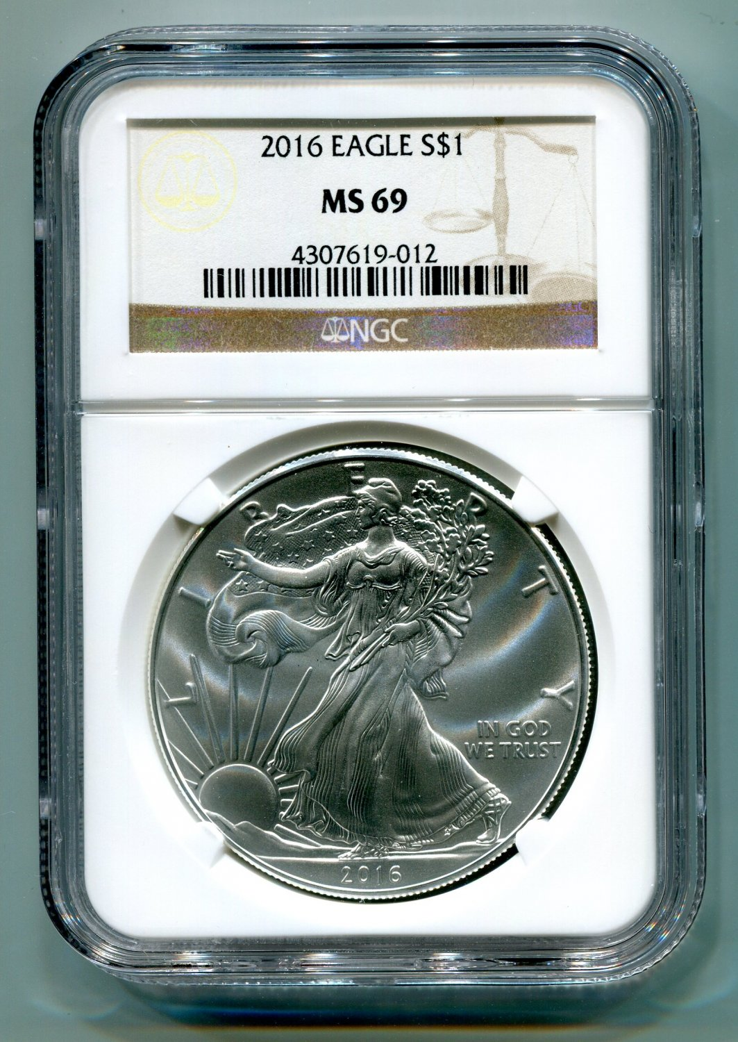 2016 American Silver Eagle NGC MS 69 Classic Brown Label Wholesale Priced