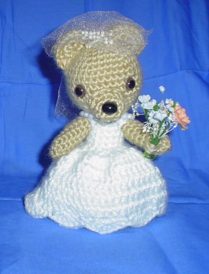 Amigurumi Japanese Anime Doll Wedding Bear
