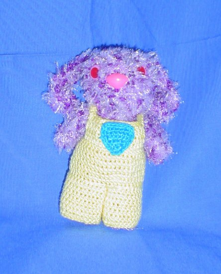 Miniature Fuzzy Bunny Rabbit Japanese Anime Amigurumi Doll With Overalls