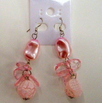 Pretty pink dangle earrings