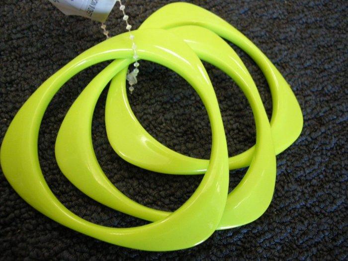 Lime Green triangular acrylic bangle bracelets