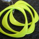 Lime Green triangular acrylic bangle bracelets