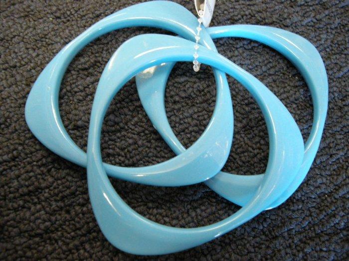 Blue triangular acrylic bangle bracelets