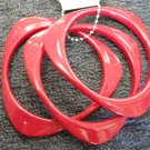 Red  triangular acrylic bangle bracelets