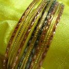Tri tone  metal multi layer cuff bracelet