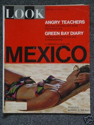 LOOK MAGAZINE- 9/3/1968- ACAPULCO - GREEN BAY PACKERS