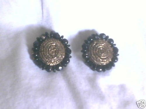 Vintage Signed JUDY LEE Beaded Clip On Earrings