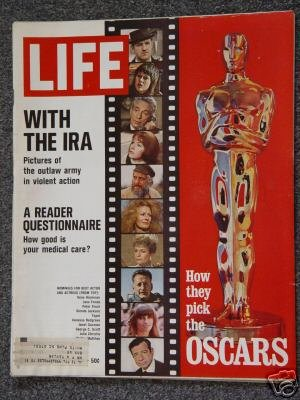 LIFE  MAGAZINE-Apr 7, 1972-THE OSCARS - PAVAROTTI - IRA