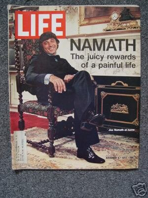 LIFE MAGAZINE - Nov. 3, 1972 -  JOE NAMATH Cover