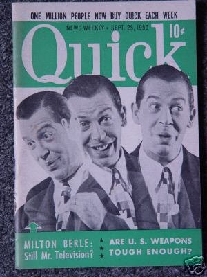 QUICK NEWS WEEKLY- SEPT.  25, 1950- MILTON BERLE Cover