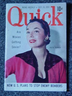 QUICK NEWS WEEKLY - Oct. 15, 1951- RUTH ROMAN Cover