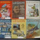 Lot - 6 AMERICAN LEGION MAGAZINES - 1968-70 - STALIN