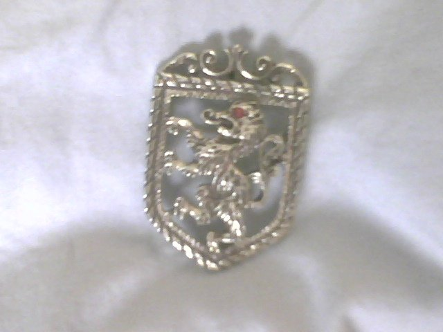 Vintage SARAH COVENTRY SIGNED LION CREST Brooch /Pin