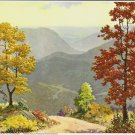 Vintage Print Autumn In The Smokies, Byrum 8x10