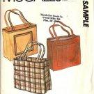 McCalls Tote Bag Vintage Sample Sewing Pattern